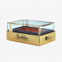 Gold Perfume 2-Piece Box with Plastic Cover