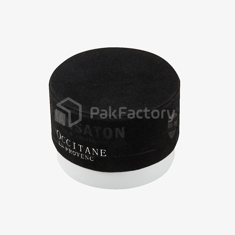 Beauty Cream Round Box with Black Velvet