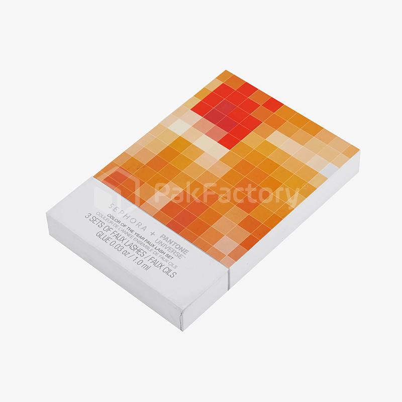 White & Orange Faux Lash Drawer Box