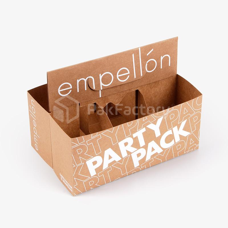 Custom 6-Pack Beverage Carrier Boxes