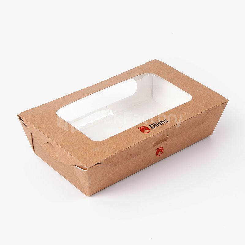 Custom Hinge Lock Take Out Boxes with Window