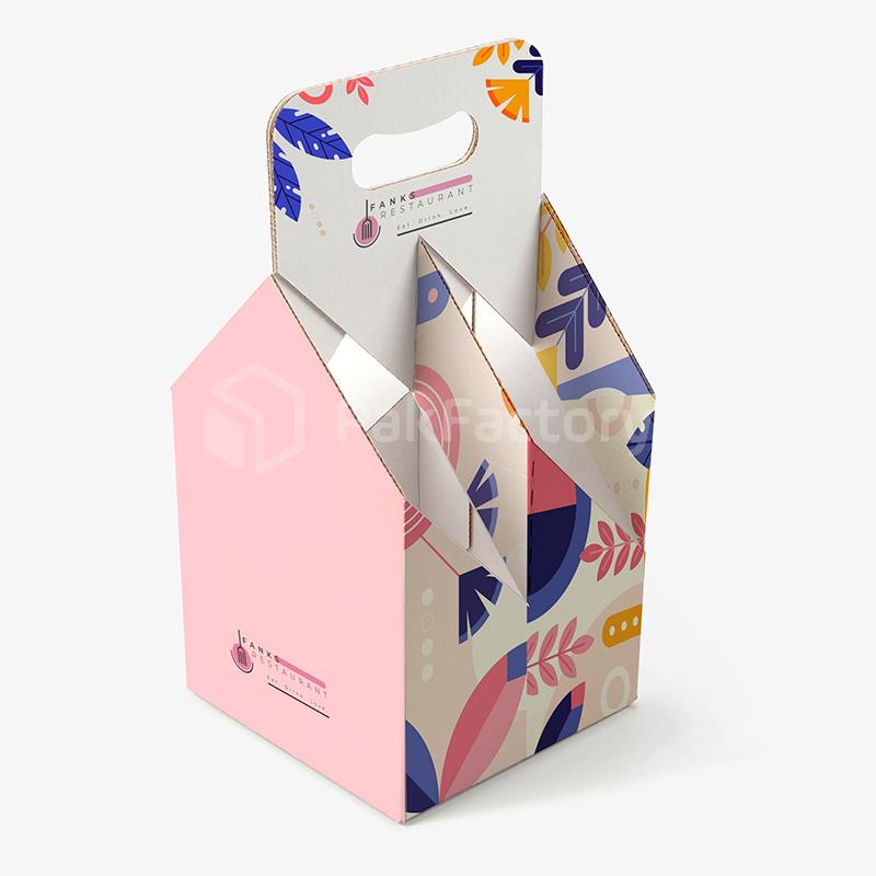 Custom 4-Pack Beverage Carrier Boxes